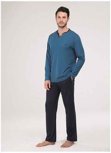 Blackspade Blackspade 30008 Mavi PetrolErkek Pijama Takımı Mavi